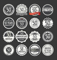 anniversary retro labels 50 years collection 1 vector image vector image