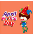 april fools day a jester background image vector image vector image