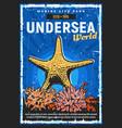 aquarium and oceanarium underwater sea world vector image vector image