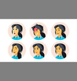 avatar icon woman user person trendy vector image