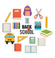 back to school set icons vector image vector image