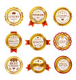 best quality awards realistic badges set vector image