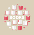 books colorful round reading vector image vector image