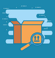 box carton with magnifying glass delivery service vector image