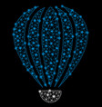 bright mesh 2d aerostat with flash spots vector image vector image