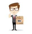 Businessman brought order vector image vector image