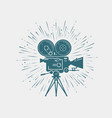 camcorder movie camera video shooting cinema vector image