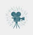 camcorder movie camera video shooting cinema vector image vector image