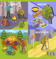 camping hiking design concept vector image vector image