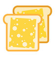 cheese sandwiches icon flat isolated vector image