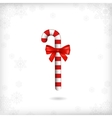 Christmas Candy Cane Red Bow vector image
