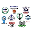 Competitive sport emblems set vector image vector image