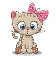 Cute cartoon kitten girl