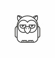 cute owl icon on white background vector image vector image