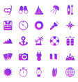 diving gradient icons on white background vector image