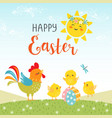 Easter design of cute happy chicks