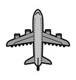 flat airplane cartoon vector image