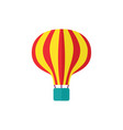 flat hot air balloon isolated vector image