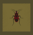 flat shading style soldier bug vector image vector image