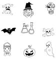 Ghost halloween in doodle vector image vector image