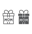 gift for mom line and glyph icon present and vector image vector image