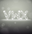 Glowing Font from V to X on Bokeh Backgroun vector image vector image