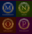 golden templates for magnificent nice opulent vector image vector image