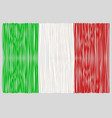 hand drawn italian flag vector image