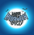 happy halloween party card with moon vector image vector image