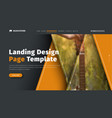header design is black and orange with triangles vector image vector image