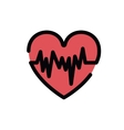 heartbeat symbol isolated icon design vector image vector image