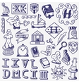 history doodles vector image vector image