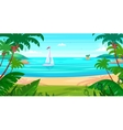 holidays sea view islands and ship vector image vector image