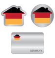 home icon on germany flag vector image