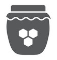 honey glyph icon food and sweet jar sign vector image vector image