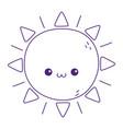 kawaii sun cute cartoon isolated icon vector image