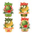 labels of juice from bananas and watermelon vector image vector image