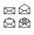 letter envelope symbols icons simple white set 2 vector image