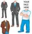 man's body template vector image vector image