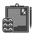 medical prescription icon vector image