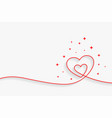 minimal line heart background with text space vector image