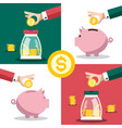 money symbol business concept with hands and vector image vector image
