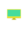 Monitor Icon vector image vector image