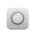music sound knob button audio control switch vector image