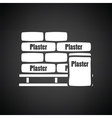 Palette with plaster bags icon vector image vector image