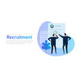 recruitment process selecting candidate by human vector image vector image