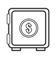 safe deposit box with money icon graphic vector image