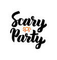 scary party isolated lettering vector image
