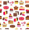 Seamless pattern with sweet dessert objects vector image vector image