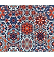 Seamless Red Blue One Block Wonder Quilt vector image vector image